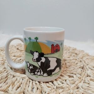 "Vintage 1998 ""Hillside Cows"" coffee cup"